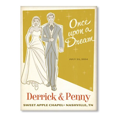 Americanflat Bride and Groom Graphic Art Wrapped on Canvas