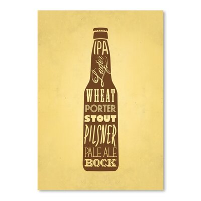 Americanflat KitchenBar Beer Graphic Art Wrapped on Canvas