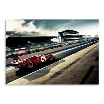 Americanflat Red 4 Photographic Print Wrapped on Canvas