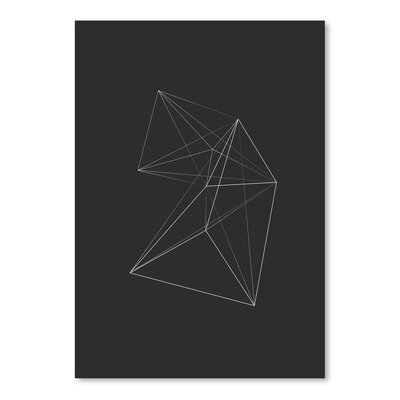 Americanflat Chalksketch Triangles Graphic Art Wrapped on Canvas