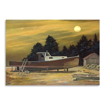 Americanflat St George Moon Art Print Wrapped on Canvas