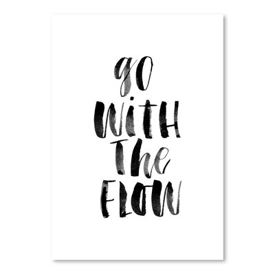 Americanflat Go with the Flow Typography on Canvas