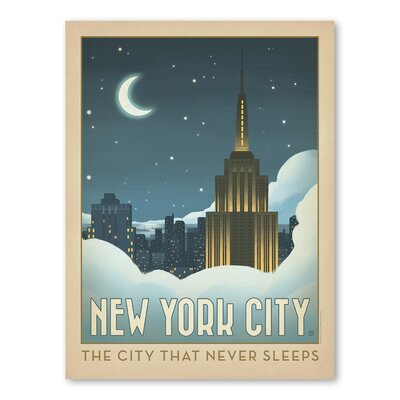 Americanflat Asa New York City 1014 Vintage Advertisement Wrapped on Canvas