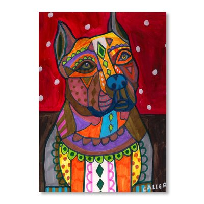 Americanflat Bulldog Art Print Wrapped on Canvas