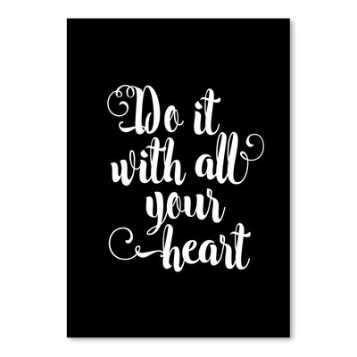 Americanflat Do It with All Your Heart Typography on Canvas