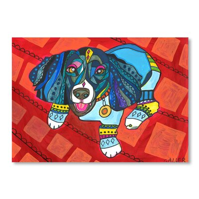 Americanflat Cockerpoo Art Print Wrapped on Canvas