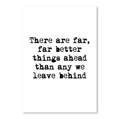 Americanflat There Are Far Better Things Ahead Typography Wrapped on Canvas