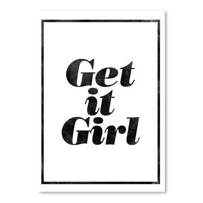 Americanflat Get It Girl Typography Wrapped on Canvas