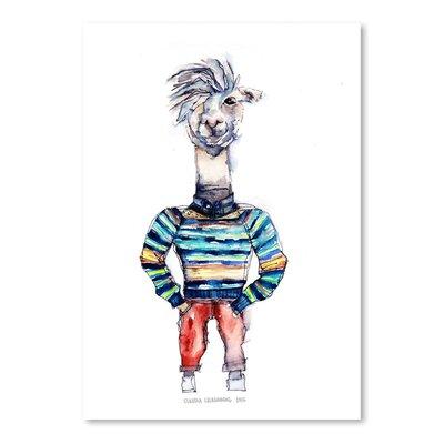 Americanflat Nigel the Llama Art Print