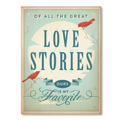 Americanflat Love Stories Typography on Canvas