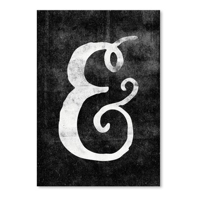 Americanflat Ampersand Paint Swirl Graphic Art on Canvas
