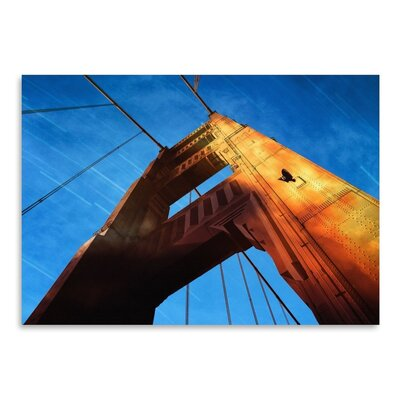 Americanflat Collage Goldengatesunset Photographic Print Wrapped on Canvas