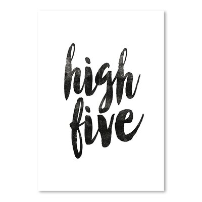 Americanflat High Five Typography on Canvas