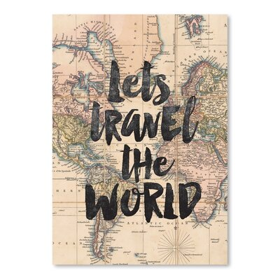 Americanflat Lets Travel The World Graphic Art