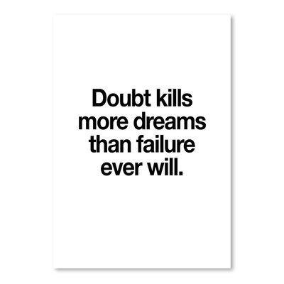 Americanflat Doubt Kills More Dreams Typography Wrapped on Canvas