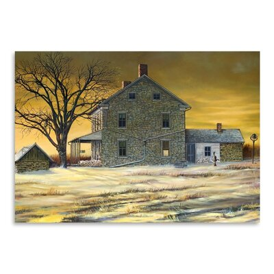 Americanflat January Evening Art Print Wrapped on Canvas