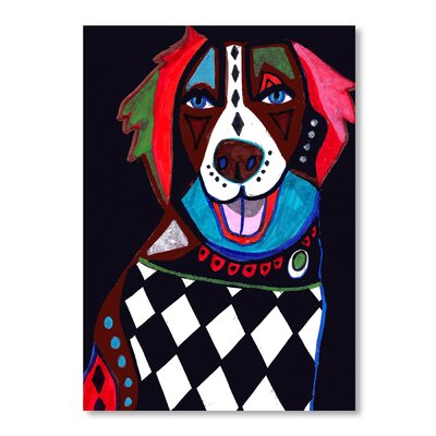Americanflat Brittany Spaniel Art Print Wrapped on Canvas