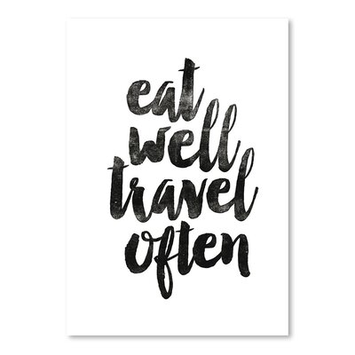 Americanflat Eat Well Travel Often 2 Typography Wrapped on Canvas