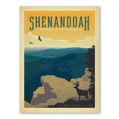 Americanflat Asa National Park Shenendoah Vintage Advertisement Wrapped on Canvas