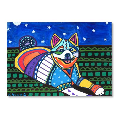 Americanflat American Eskimo Art Print Wrapped on Canvas