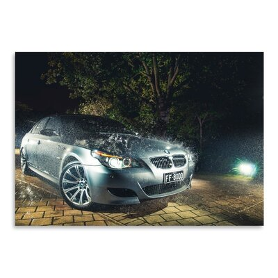 Americanflat BMW Grey Photographic Print Wrapped on Canvas