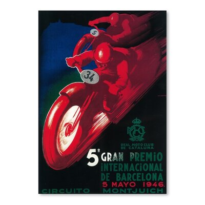 Americanflat Gran Premio Internacionale de Barcelona Vintage Advertisement