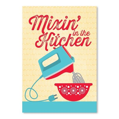 Americanflat Kitchen Bar Mixer 4 Graphic Art Wrapped on Canvas