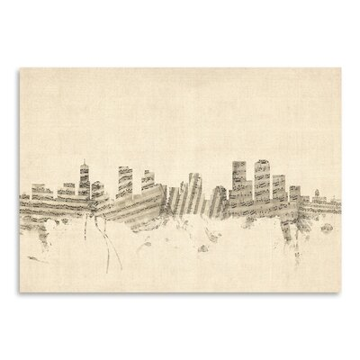 Americanflat Denver Graphic Art Wrapped on Canvas
