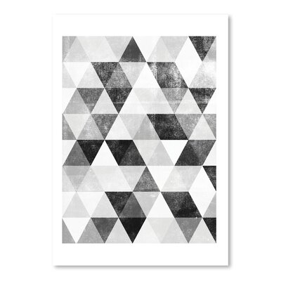 Americanflat Polygon Pattern Graphic Art Wrapped on Canvas
