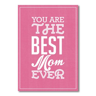 Americanflat Best Mom Typography Wrapped on Canvas