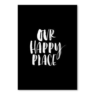 Americanflat Our Happy Place Typography Wrapped on Canvas