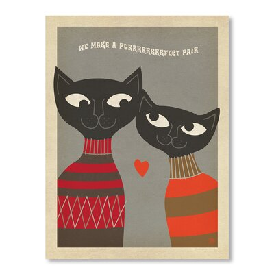 Americanflat Cats Purrrfect Pair Graphic Art Wrapped on Canvas
