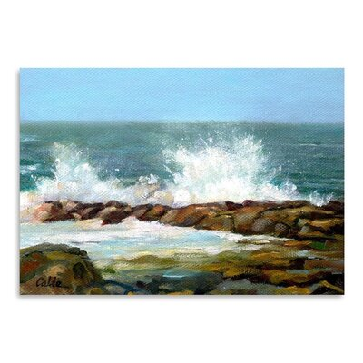Americanflat Churning Sea Art Print Wrapped on Canvas