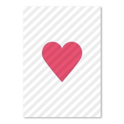Americanflat Love Heart Graphic Art