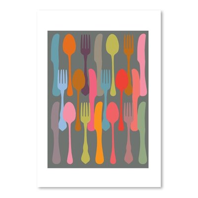 Americanflat Cutlery 1 Graphic Art Wrapped on Canvas