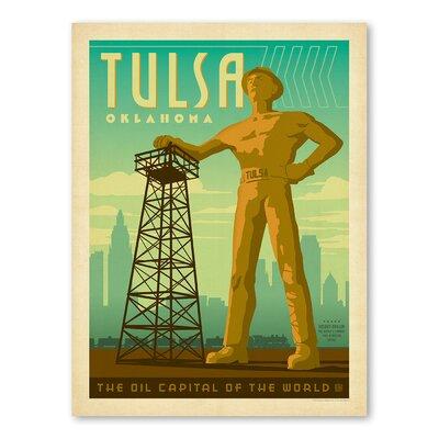 Americanflat Asa Tulsa Oilman Vintage Advertisement