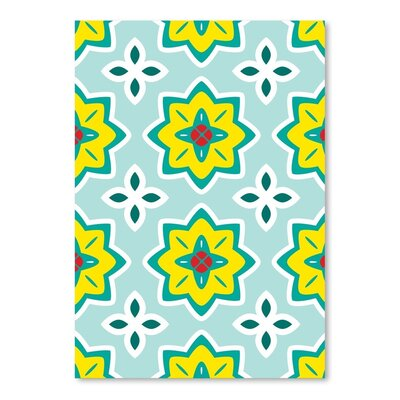 Americanflat Flowers Graphic Art Wrapped on Canvas