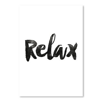 Americanflat Relax Typography on Canvas