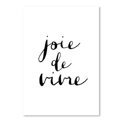 Americanflat Joie De Vivre Typography on Canvas
