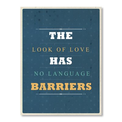 Americanflat No Language Barriers Typography on Canvas