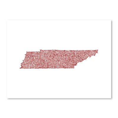 Americanflat Tennessee Typography on Canvas