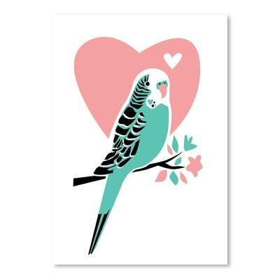 Americanflat Parakeet 3 Graphic Art Wrapped on Canvas