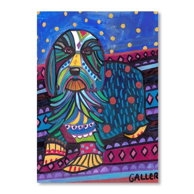 Americanflat Bearded Collie Art Print on Canvas