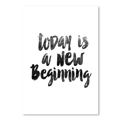 Americanflat Today is a New Beginning Typography