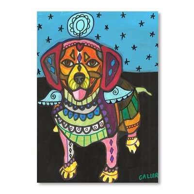 Americanflat Beagle Art Print on Canvas