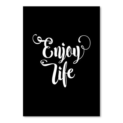 Americanflat Enjoy Life Typography in Black