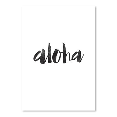 Americanflat Aloha Typography Wrapped on Canvas
