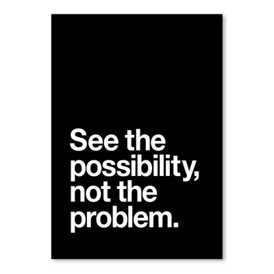 Americanflat See The Possibility Not The Problem Typography Wrapped on Canvas