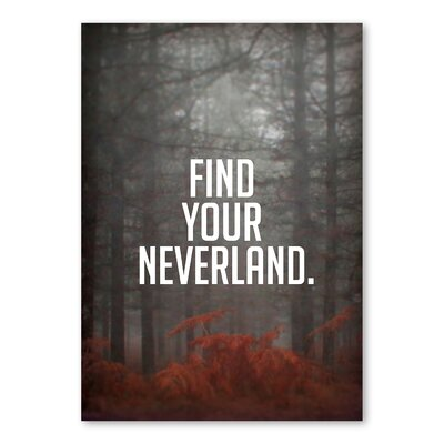 Americanflat Find Your Neverland Graphic Art Wrapped on Canvas