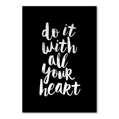 Americanflat Do It with All Your Heart Typography